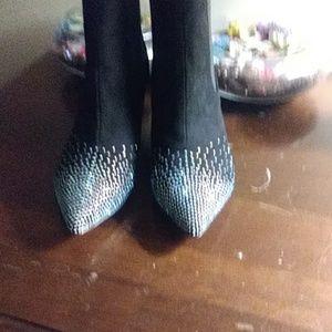 Azura crystal embellished boot